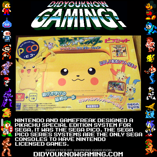 didyouknowgaming:  Pokemon, Nintendo, Sega.