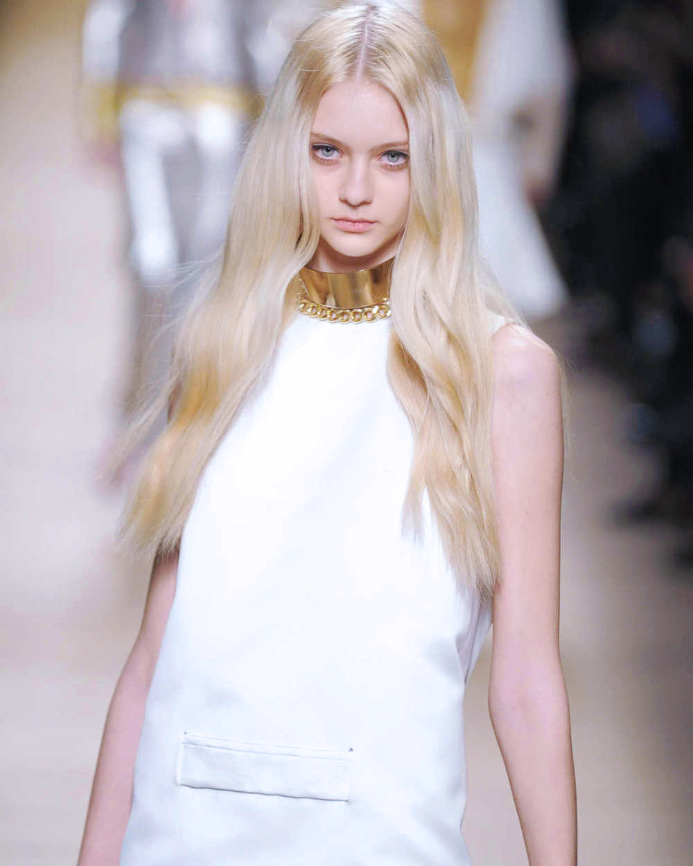 Nastya Kusakina at Paco Rabanne Fall 2012.