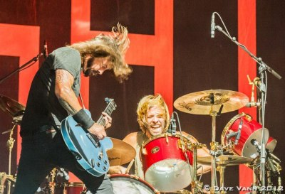 Dave Grohl and Taylor Hawkins of the Foo Fighters at DeLuna Fest 2012