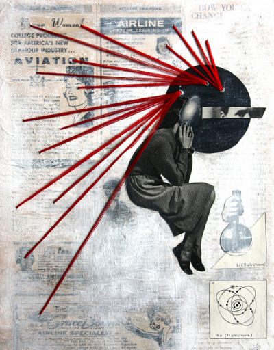 red-lipstick:  Tyler Elizabeth - Dream Big, 2011               Mixed Media on Canvas http://portfotolio.net/ohyourenofun