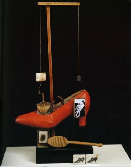 Scatalogical Object Functioning Symbolically (The Surrealist Shoe) by Salvador Dalí, 1931Also