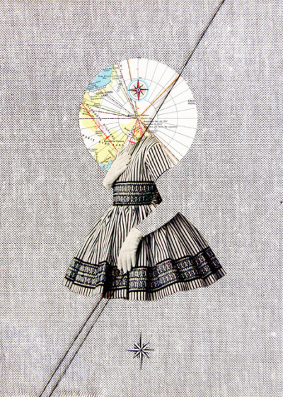 red-lipstick:  Tyler Elizabeth - World Traveler, 2011                  Mixed Media on Canvas http://portfotolio.net/ohyourenofun