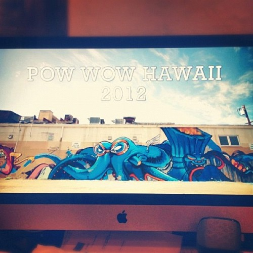 New #powwowhawaii video by @minouye will be screened for the first time at the Future Islands concert tonight. Come! (Taken with Instagram at The Republik)