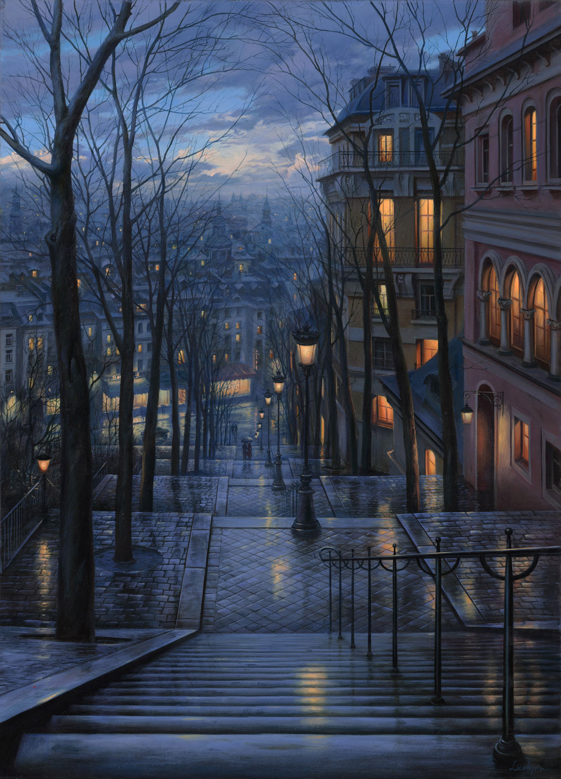 "earthg:  ""Rendezvous on Rue de Mont Cenis"" by Evgeny Lushpic"