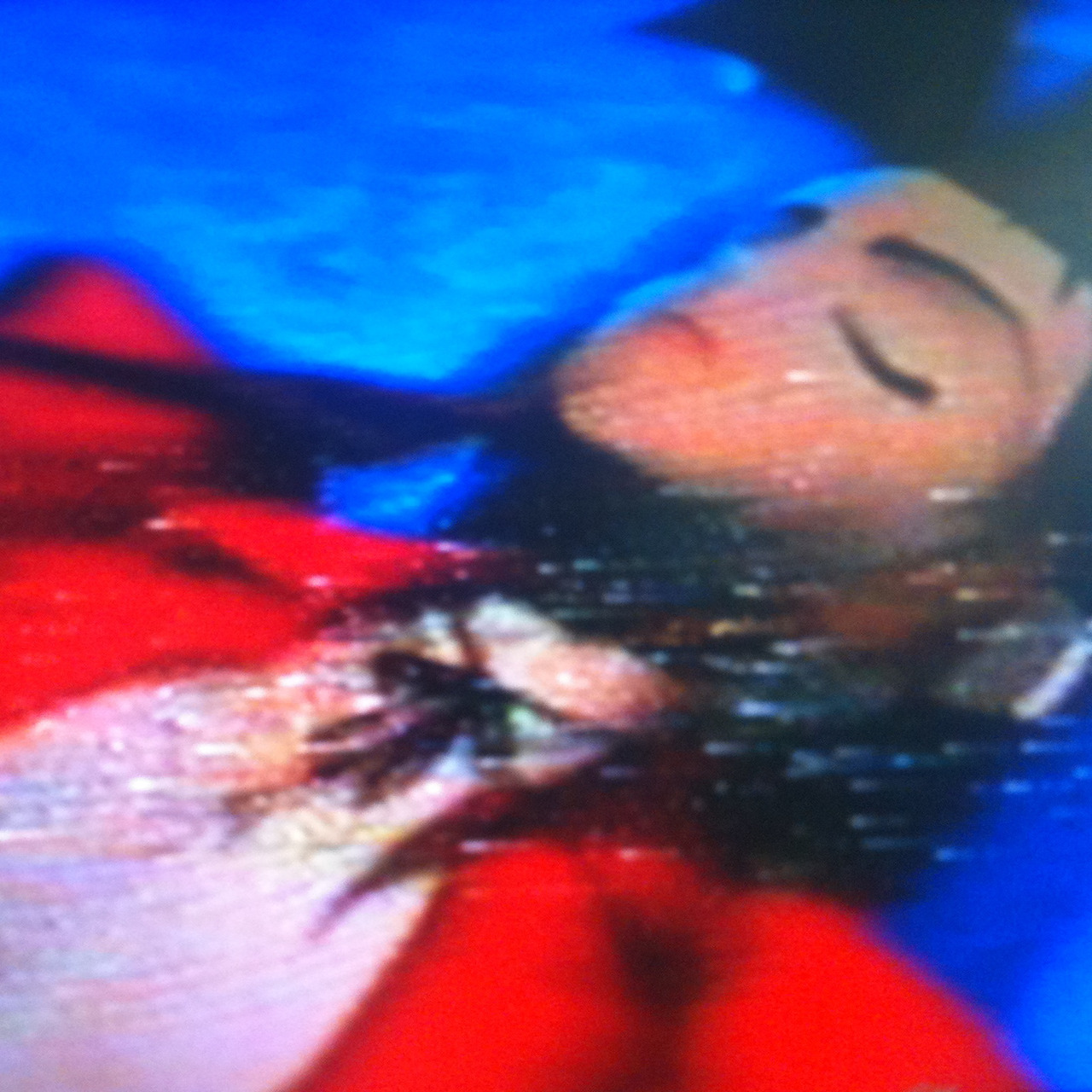 vhsstills:  Aeris from Final Fantasy VII (caught on VHS).