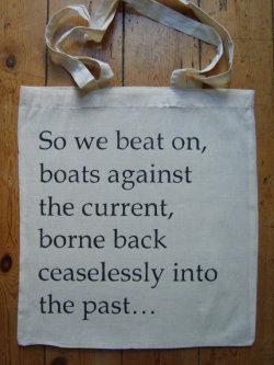 So we beat on, boats against the current, borne back ceaselessly into the past. ~F.Scott Fitzgerald