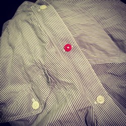 That's right, I've used a coloured button people. Lookout! #fashion (Taken with Instagram)