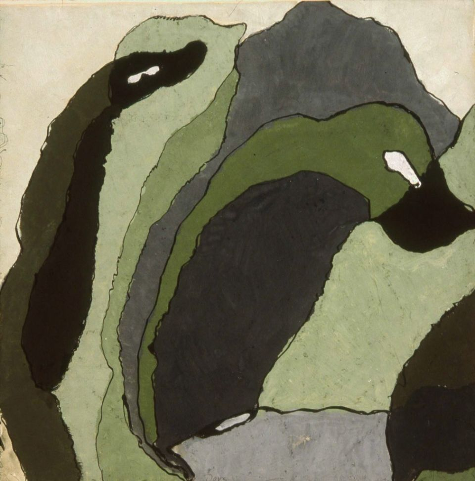 [+] cavetocanvas:  Arthur Dove, Untitled (Composition in Grey and Green), c. 1930
