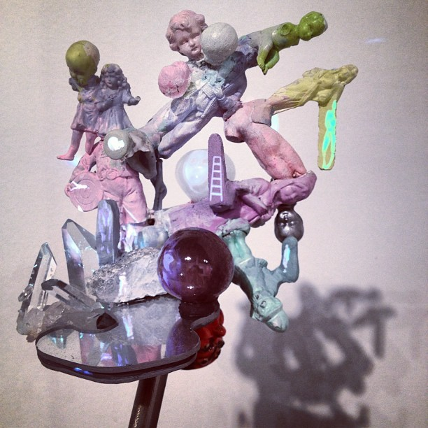 Tony Oursler. Projection on sculpture. Art Expo, Chicago.  (Taken with Instagram)