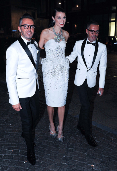 J' AIME LA MODE இ≻/// Jessica Stam wore @DeanandDan {Dsquared2} white cocktail dress, adorned with @swarovski crystals for Amfar gala auction…The dress was auctioned for 25.000 euros ;* credit: zimbio / @DeanandDan