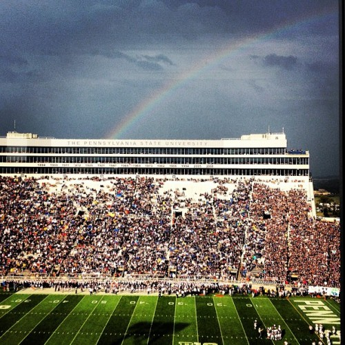 Rainbow over Beaver Stadium