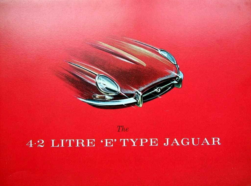 E-Type… '64 XK-E brochure cover artwork
