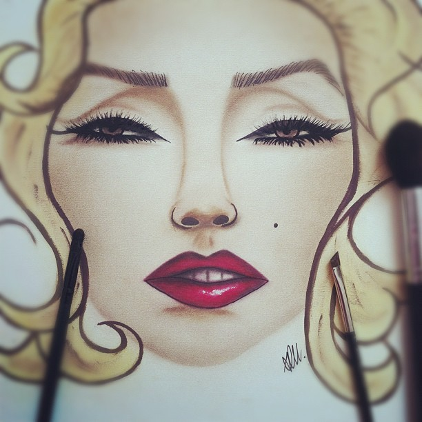 ashleyswagner:  Marilyn Monroe💋 #facechart #marilynmonroe #marilynmonroecollection #marilyn #maccosmetics #inglotcosmetics #makeup #makeupjunkies #makeuphoneys (Taken with Instagram)