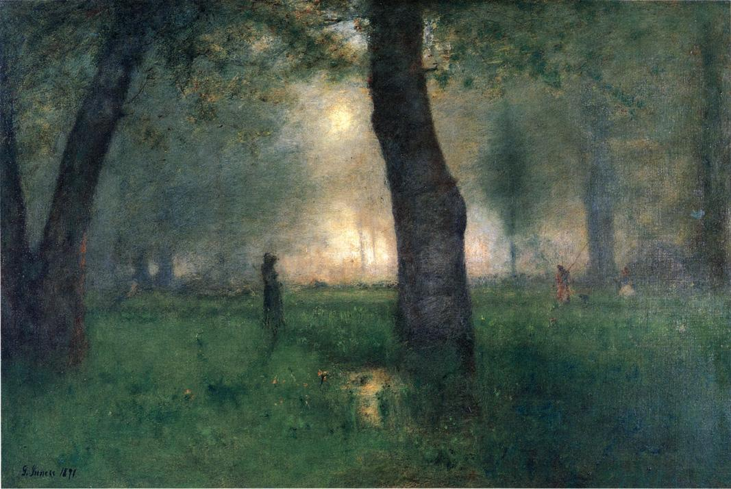 George Inness - The Trout Brook, c. 1891. (via: chasingtailfeathers)