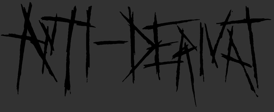 The first revision of a logo I made for my friends band, Anti-Derivat.