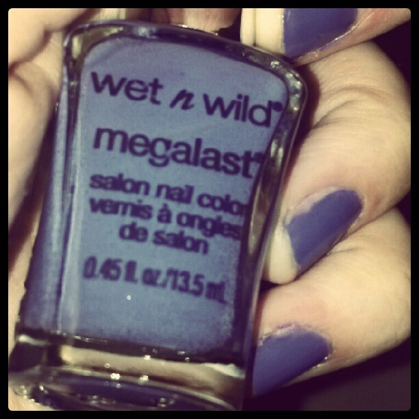"Wet n wild megalast ""on a trip"" #notd #mani #nailpolish  (Taken with Instagram)"