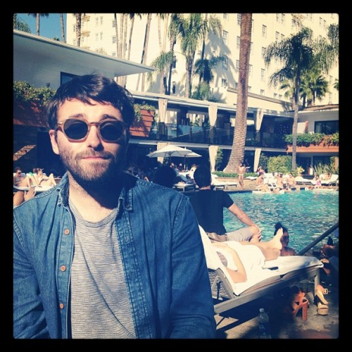 Poolside with @mitchmagee  (Taken with Instagram at Hollywood Roosevelt Hotel)
