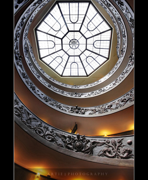 Spiral Stairs of the Vatican, Rome, Italy :: HDR by Artie | Photography :: No need to fave/comment :) on Flickr.