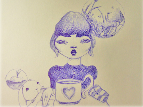 Doodling in Starbucks the other day.