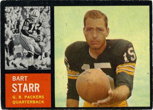 thecardmuseum:  1962 Topps Bart Starr  Happy Birthday, Bart Starr