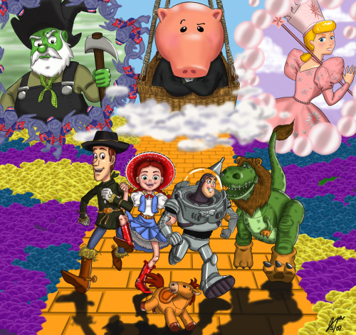 Toy Story Wizard of Oz Art!