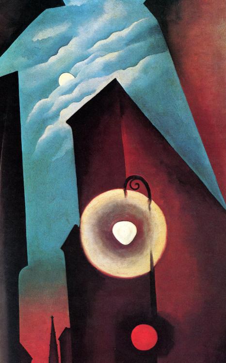 New York with Moon 1925, Georgia O'Keeffe