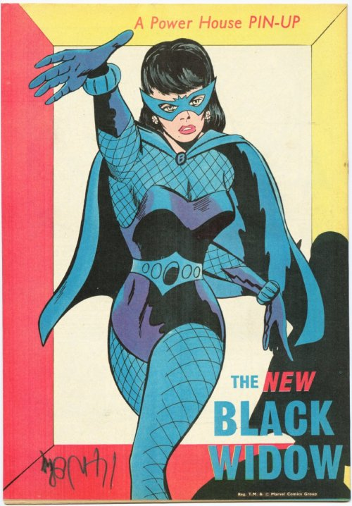 seanhowe:  Black Widow, back in the day.There is a tremendous goldmine of more of these pin-ups here.