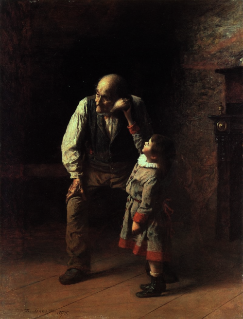 cinematographers:  Inspiration Through Paintings: Eastman Johnson. What The Shell Says. c. 1875.