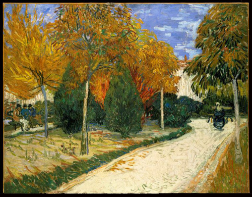 aleyma:  Vincent Van Gogh, Garden in Autumn, 1888 (source).