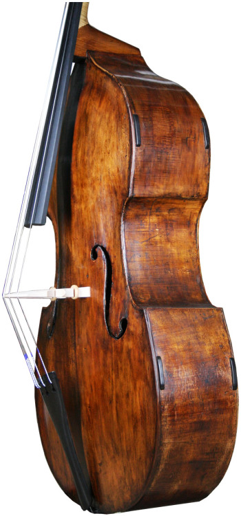 thefaceofit:  English Double bass circa 1870 att. William Calow  Just look at the coloring. Beautiful.