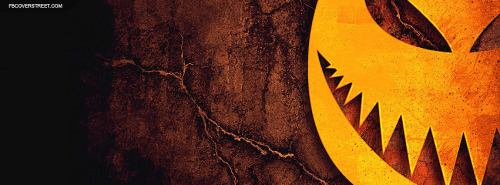 Halloween Pumpkin Monster Face Facebook Cover