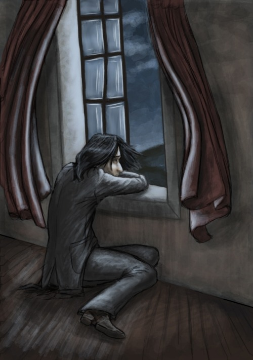 severussnapegal:  So alone… Artist: Unknown