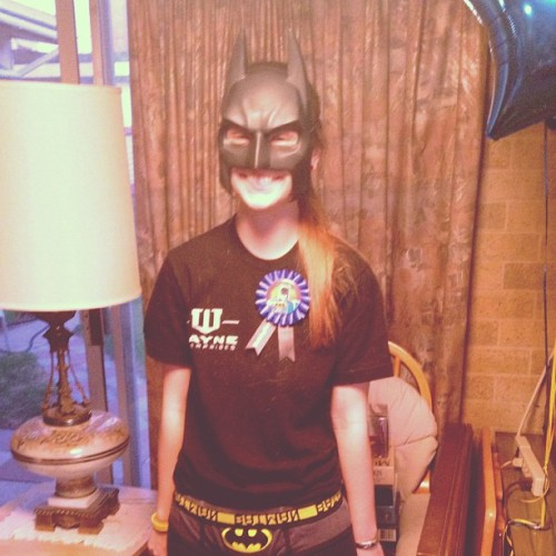 Birthday nerd. #batman  (Taken with Instagram)