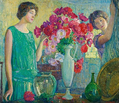 stilllifequickheart:  George Laurence Nelson The Flower Arrangement 1926
