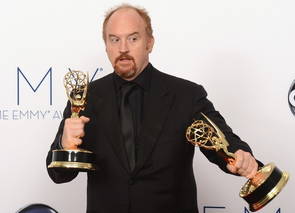 "losgabuzzo:  bohemea:  Louis CK - 2012 Emmys If I had two Emmys I'd make them kiss, but when I have two of anything I make them kiss.  ""Whenever you leave behind failure, it means you're getting better."" Louis CK."