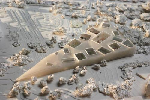 © OMA + vincent de rijk (model) - national museum of archeology and earth sciences - rabat, morocco - 2010