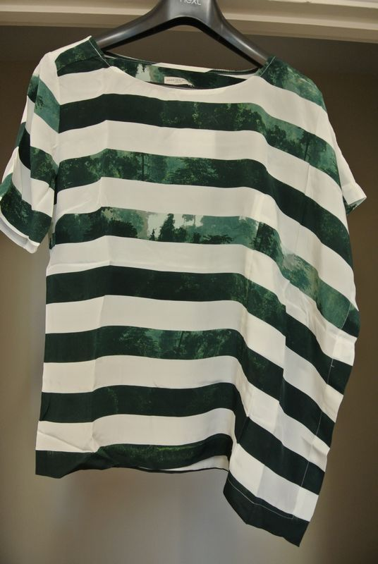 asymmetric striped t-shirt (be 38) • dries van noten£94.99