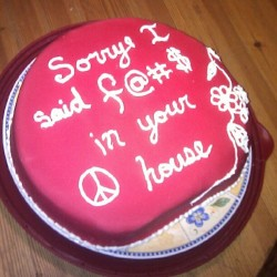 Stacy's cake apologizing to my parents for swearing in our house  (Taken with Instagram)