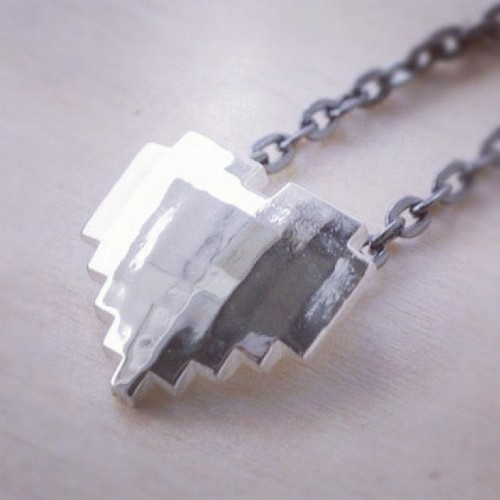 8-bit heart necklace at shanalogic.com #8bit #geek #gamer #handmade #geekery (Taken with Instagram)