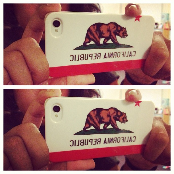I #love my #new #California #Republic #iPhone #case from #UrbanOutfitters. #Reppin' my #home #state ✌🐻📲 (Taken with Instagram)
