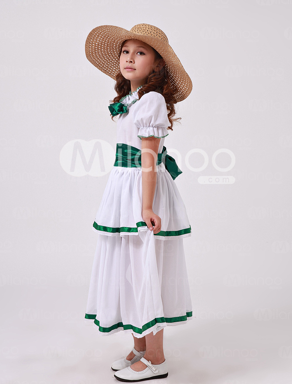 Double-Layer Polyester Little Lady Kids Costume