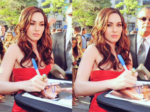 Megan Fox looking like an adorable deer in headlights while signing autographs at TIFF last year.