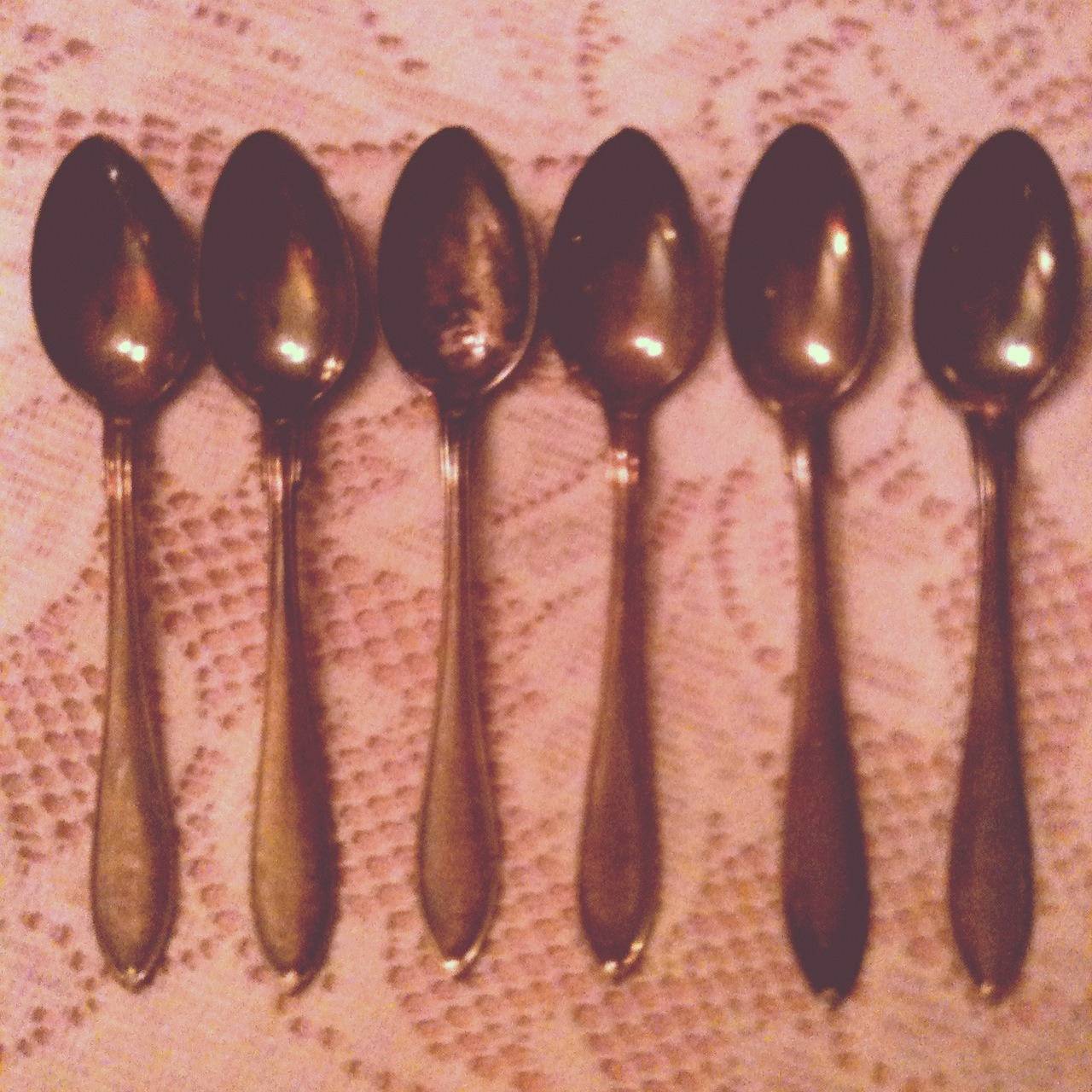 One spoon, two spoon, three spoon, four spoon, five spoon, six spoon! Heh heh heh heh. (My horrible impression of being that counting count count guy who counts on Sesame Street.)