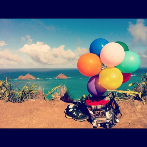 Balloons…?Lanikai…?Pillboxes…?Photoshoot…? @tnans #photoshoot #balloons #pillboxes #hike #nicetogetawayfromitall (Taken with Instagram)