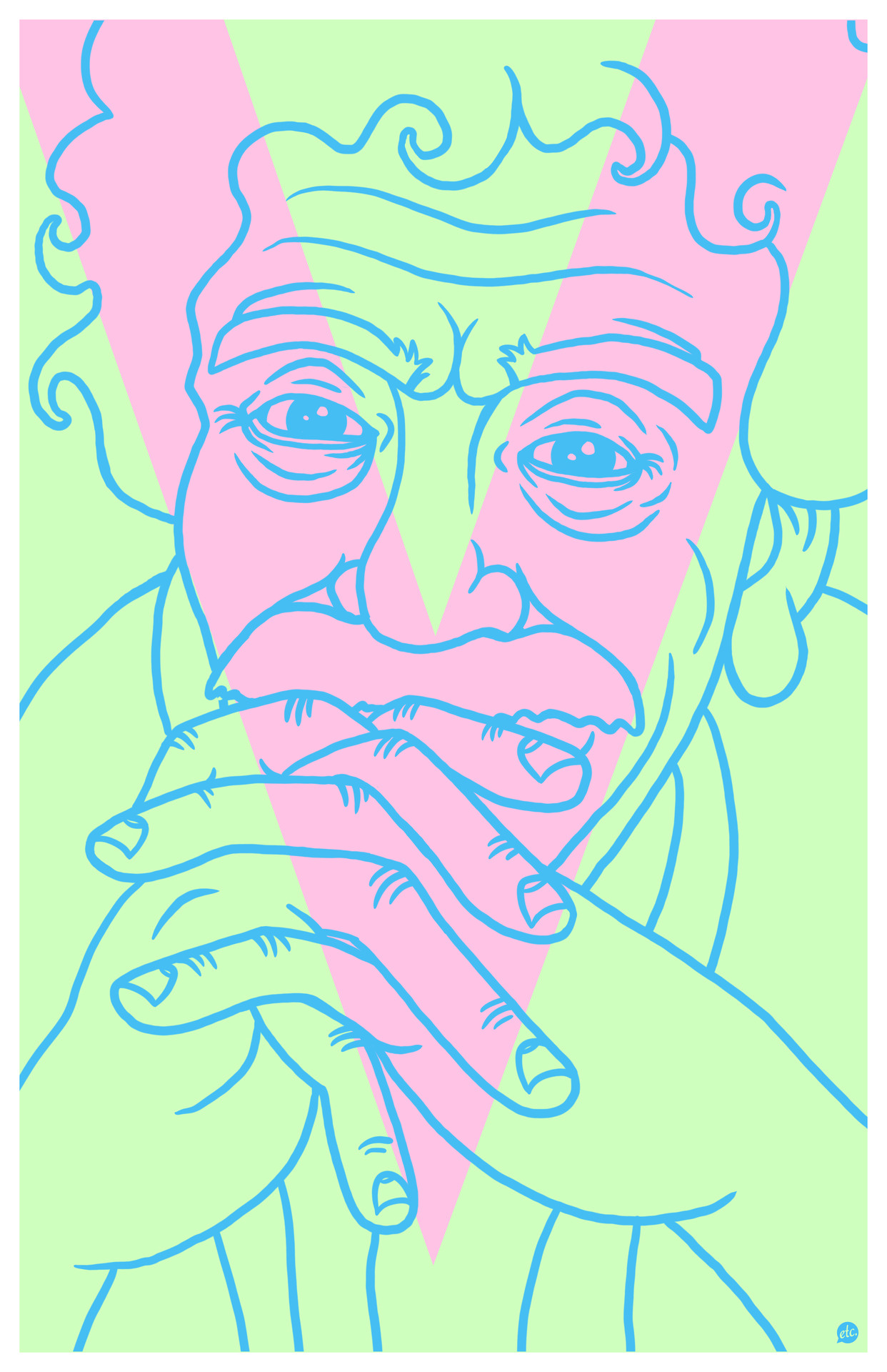 "Happy birthday, Mr. Vonnegut.  Via superpreciousgallery:  ""Vonnegut""Jon DeFreest, Boston, MAjonnyetc.com, @jonnyetc11"" x 17"" Edition of 4, $25 +$5 shipping (in the US) CLICK HERE TO BUY NOW See other pieces in the 20th Century American Authors Art Show"