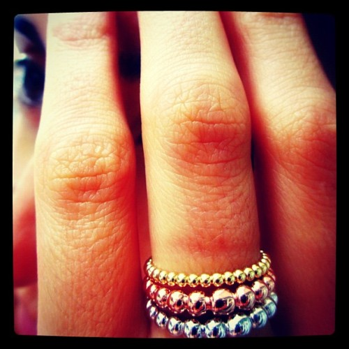 Vania's new bling rings (Taken with Instagram at Nampo-dong Street)