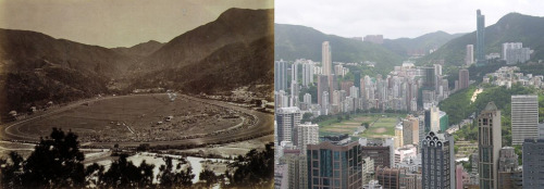 Happy Valley 100 years apart… Here is another one of those photo comparisons of Hong Kong. I think a collection of these pictures would make a fantastic book. They really highlight the dramatic change of the territory.