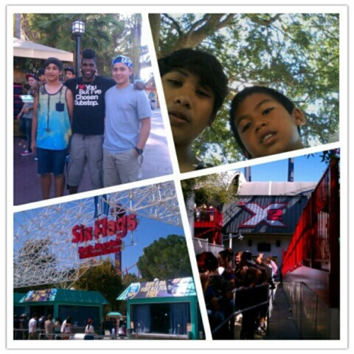 Today went to six flags Met Cyrus runnerup in #sytycd #sixflags #cousins #haveafarmerstan #hairsmessedup  (Taken with Instagram)