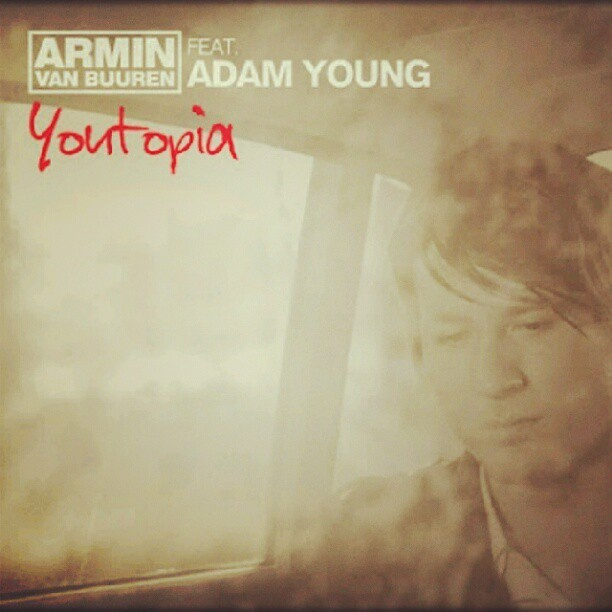 So far, pretty good. Adam Young has an amazing voice. #adamyoung #youtopia #single #music #coverart #songoftheday (Taken with Instagram)