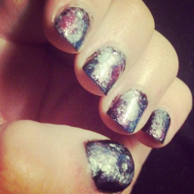 Space nails for Doctor Who day! (Taken with Instagram)